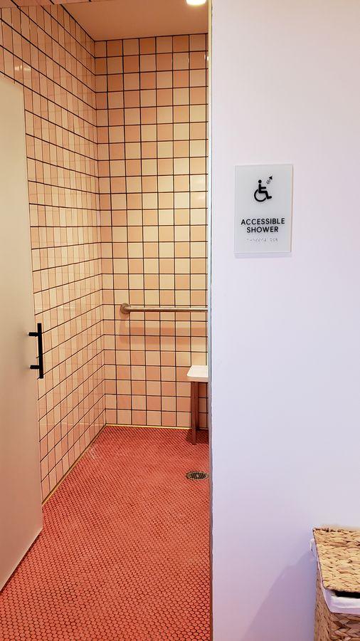 acrylic shower sign