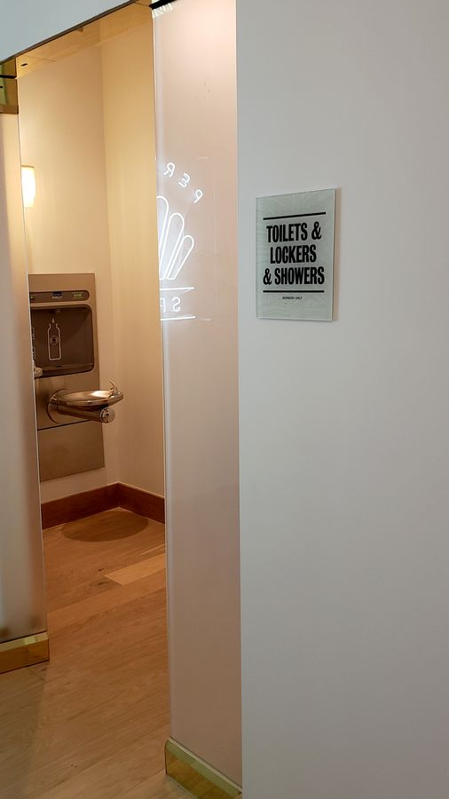 acrylic toilet sign
