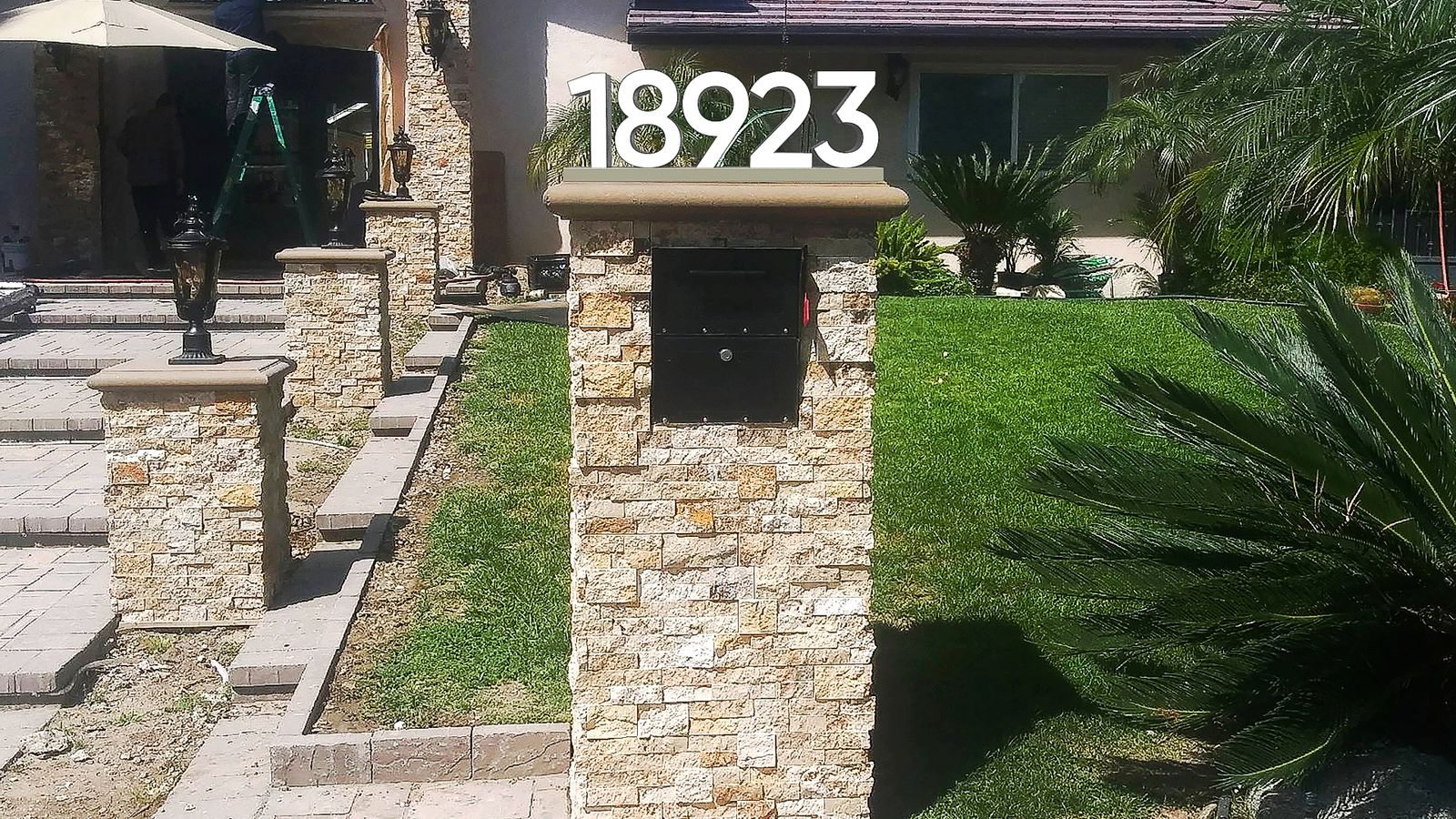 address numbers 3d rendering