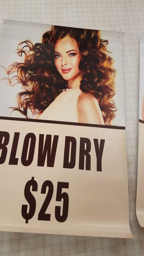 beauty salon vinyl banner