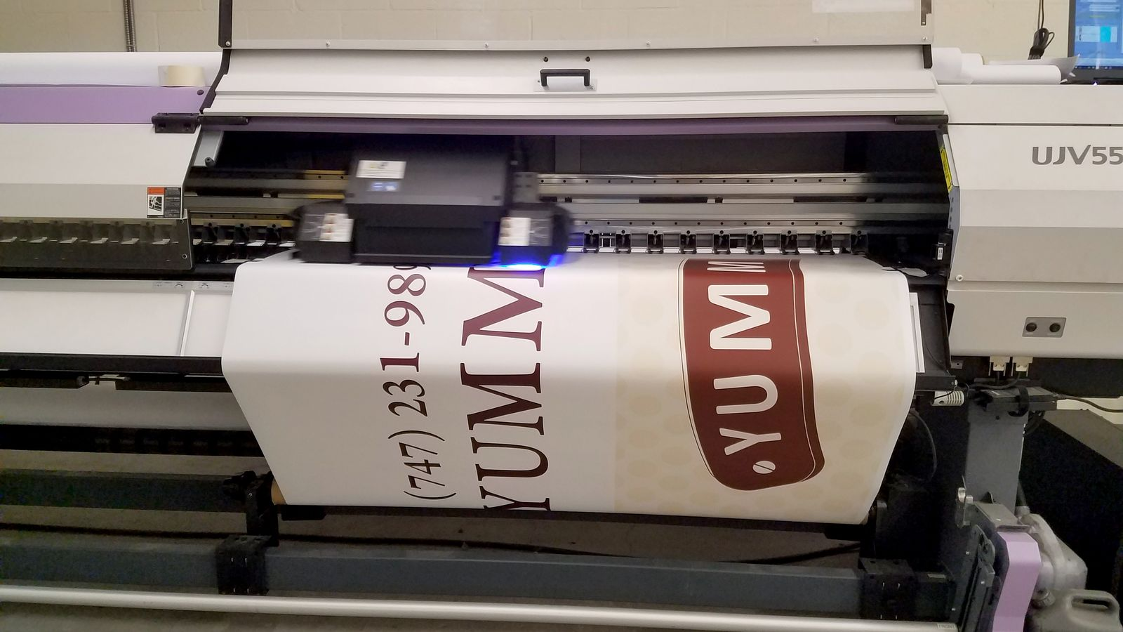 UV printing process of a promotional decal | Front Signs