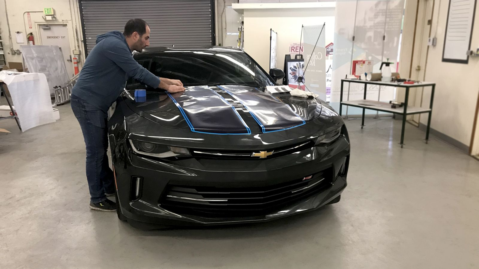 car hood wrapping process