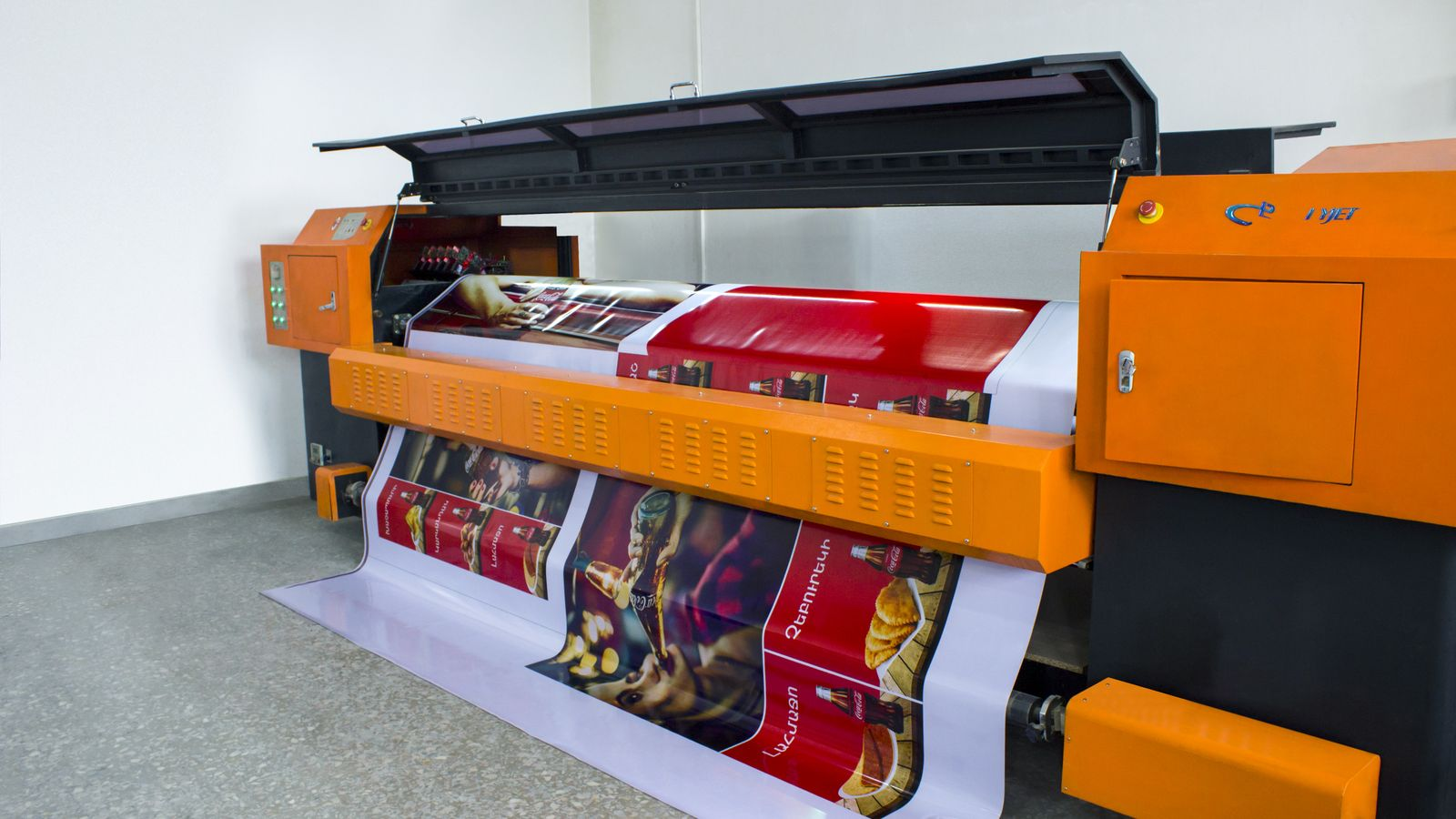 coca cola banner printing