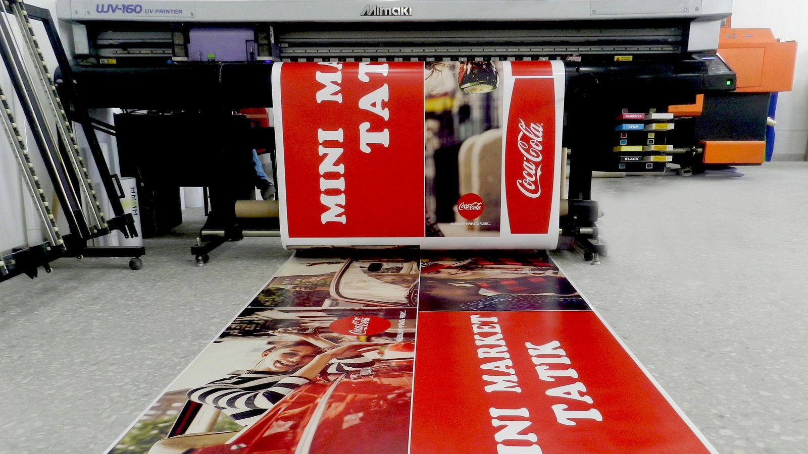 coca cola vinyl banner printing