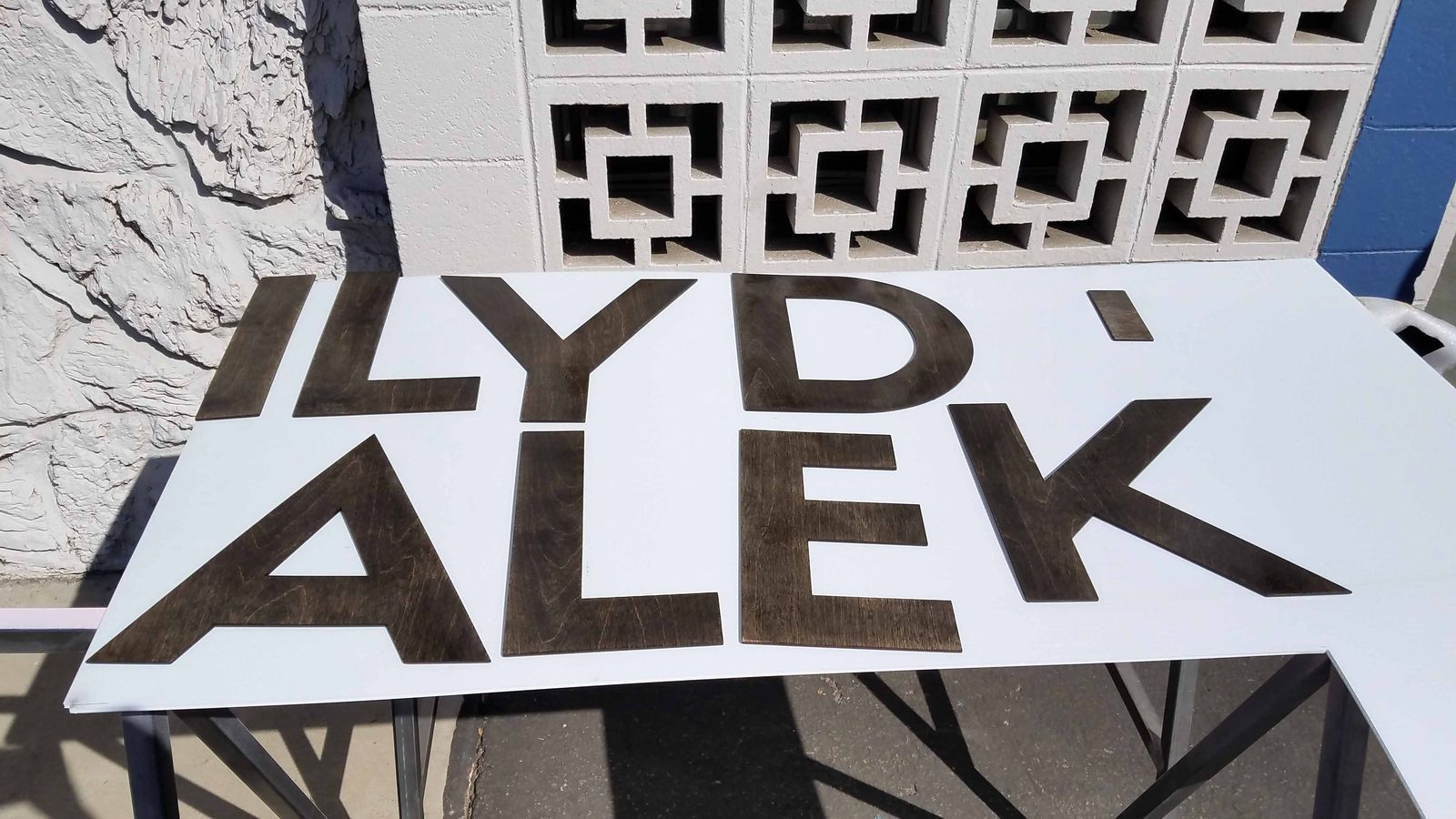 custom cut wooden letters