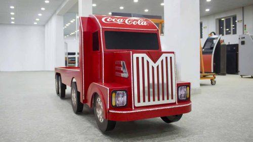 decorative coca cola truck