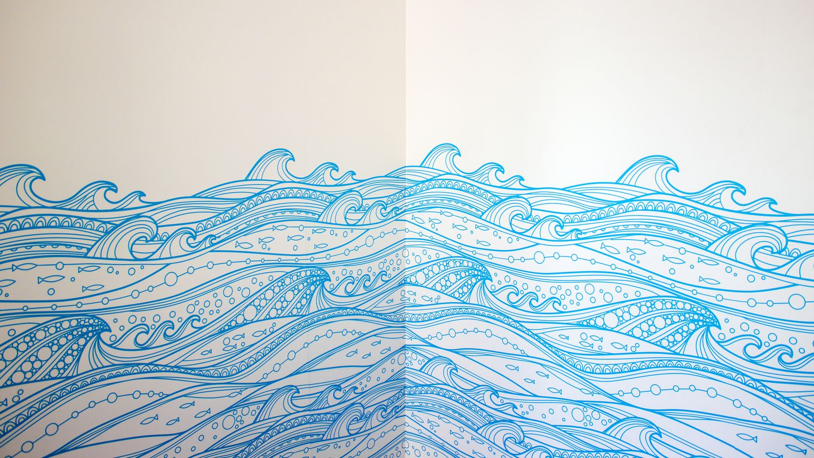 decorative wave wall decals