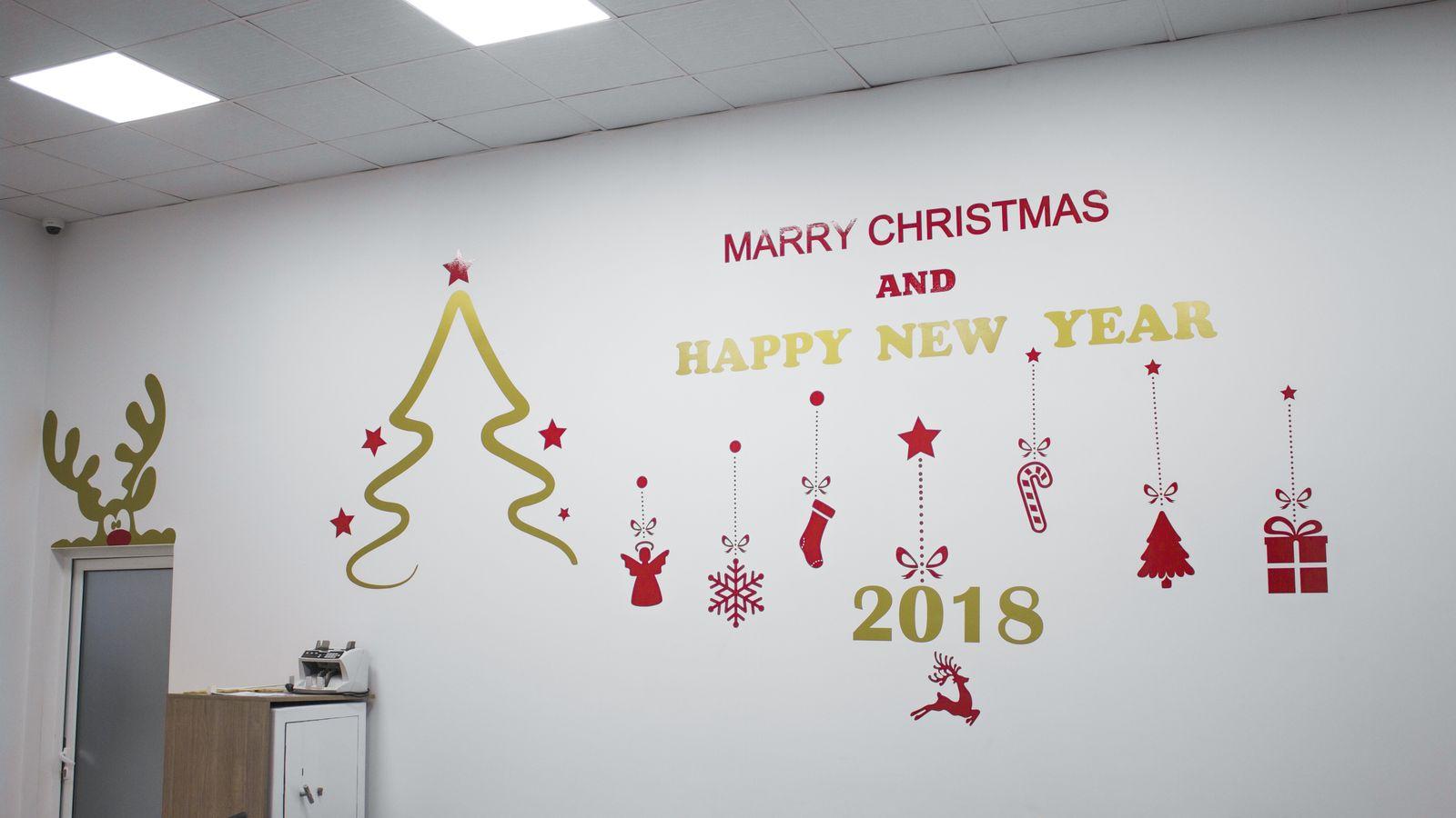 festive wall decals