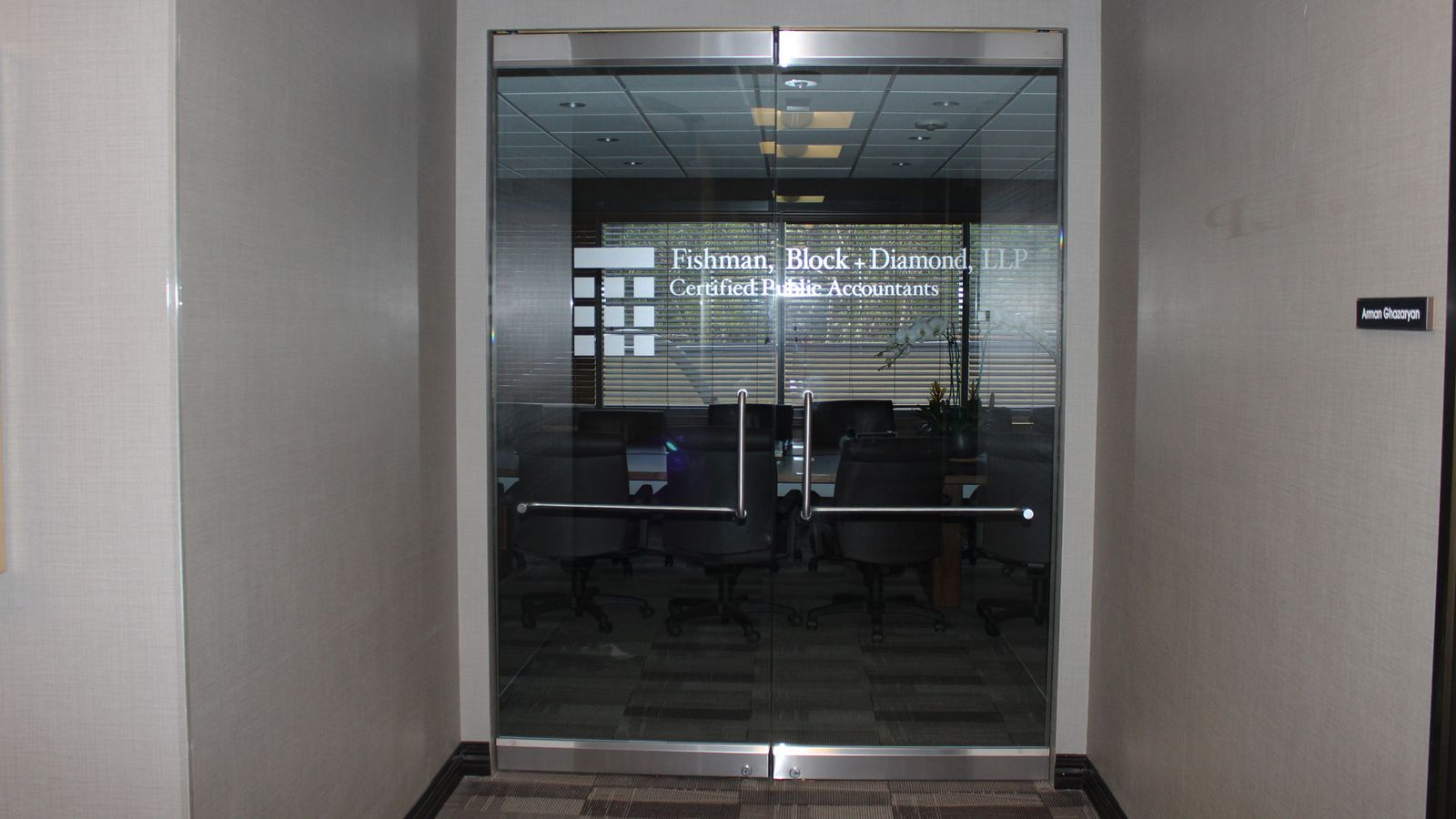 glass door lettering
