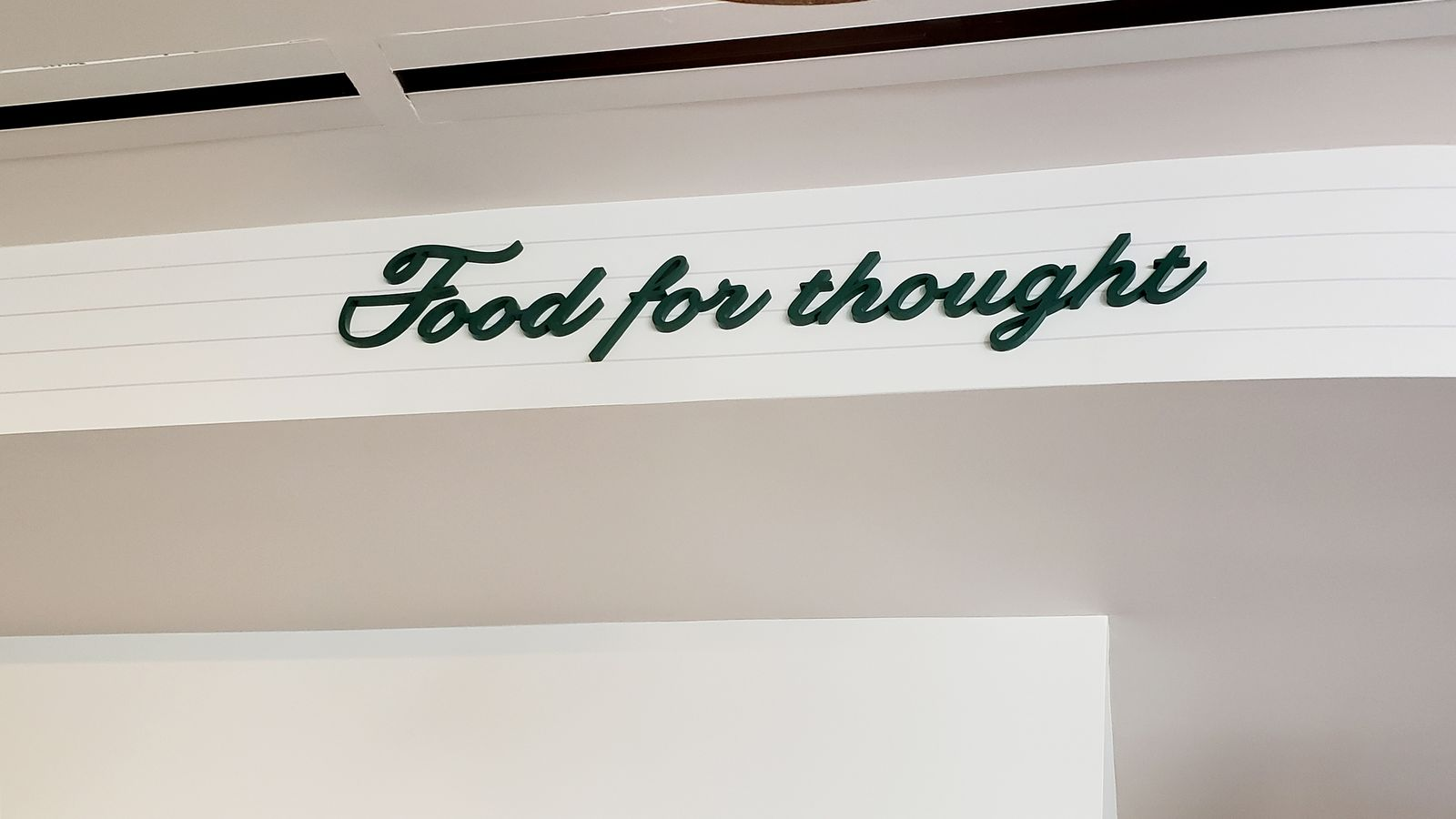 green painted acrylic letters