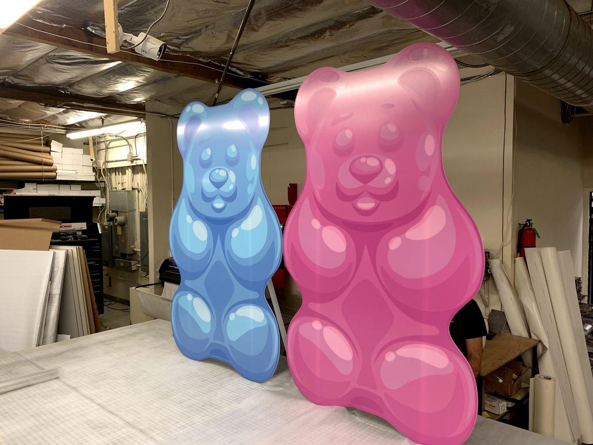 gummy bear pvc stands