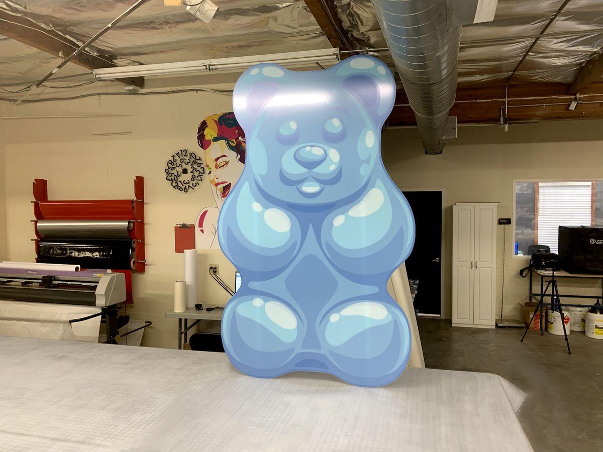 gummy bear stand