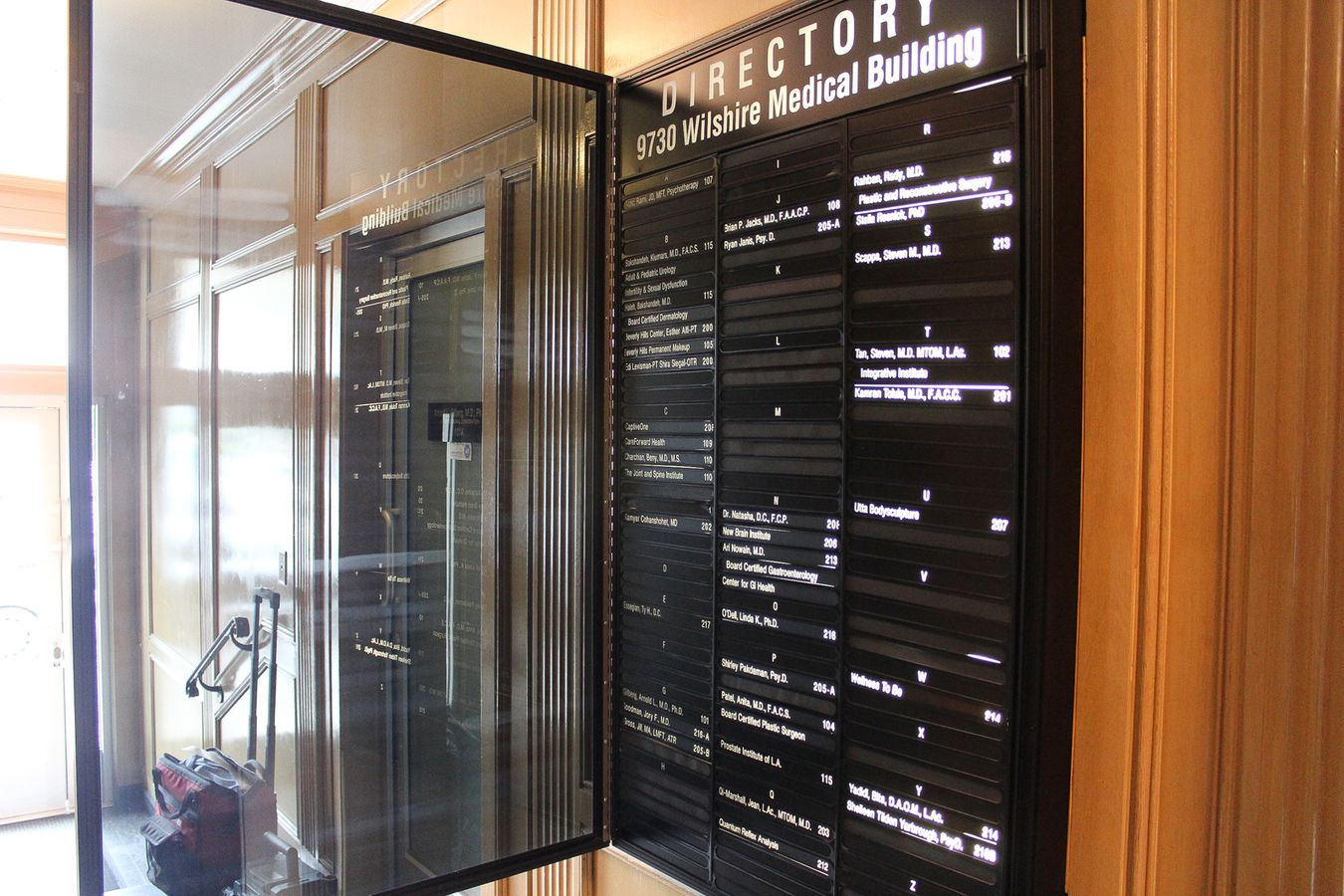light up directory sign