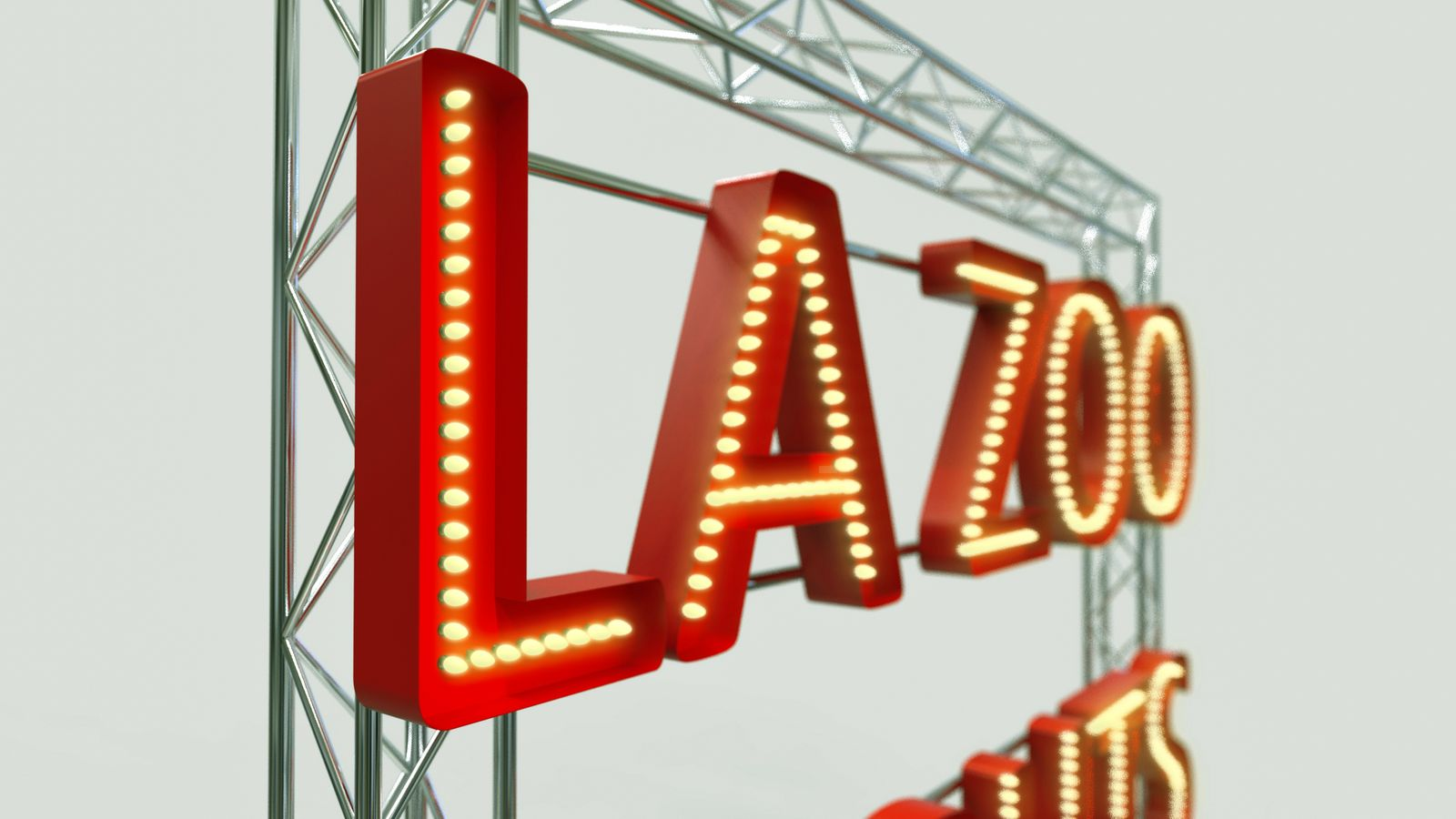 marquee letters 3d rendering