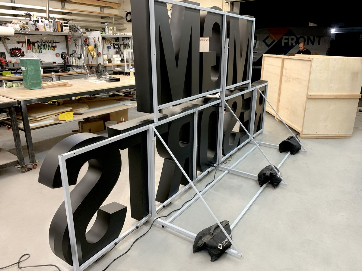 marquee letters with stand