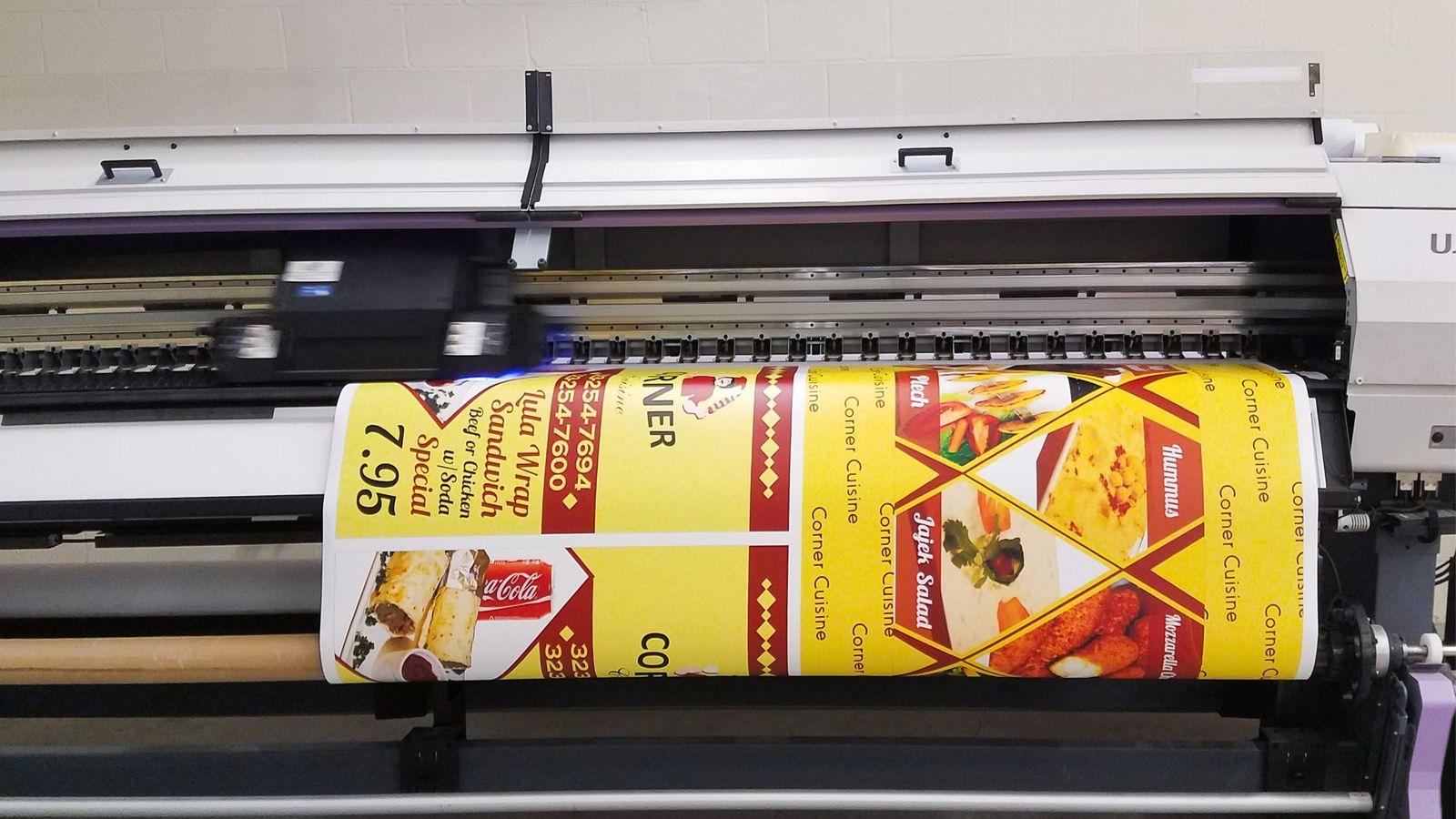 menu decal printing