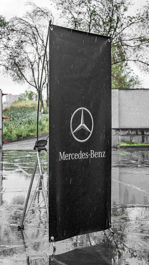 mercedes x stand banner