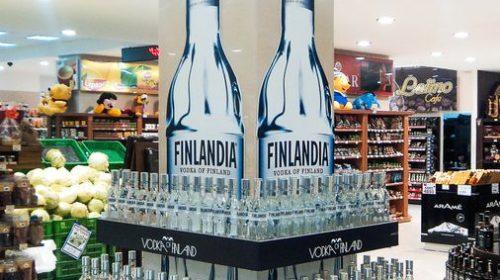 promotional vodka display
