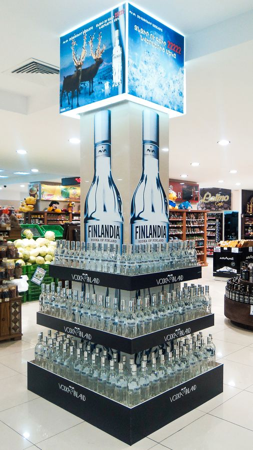promotional vodka display