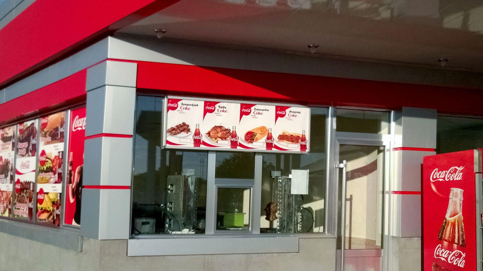 restaurant coca-cola menu signs