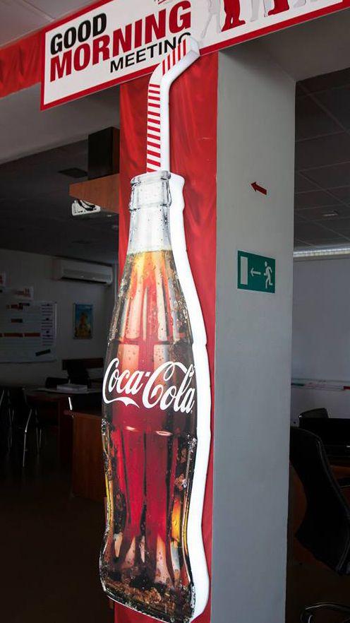side lit coca cola bottle