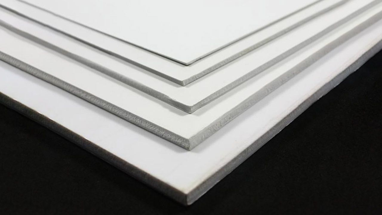 stack of foamboard materials