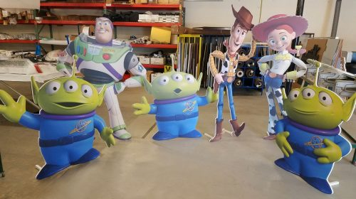 toy story foamboard stands