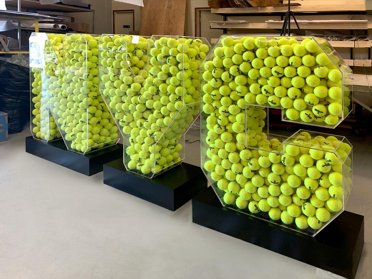nyc tennis display sign