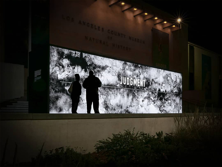 Annenberg freestanding illuminated outdoor event sign