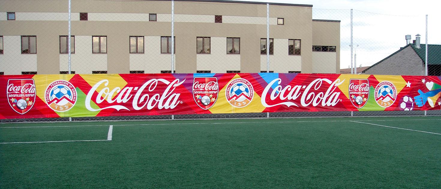 Coca-cola large stadium banner
