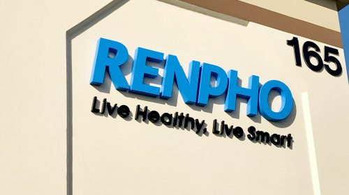 Large wall-mounted aluminum letters