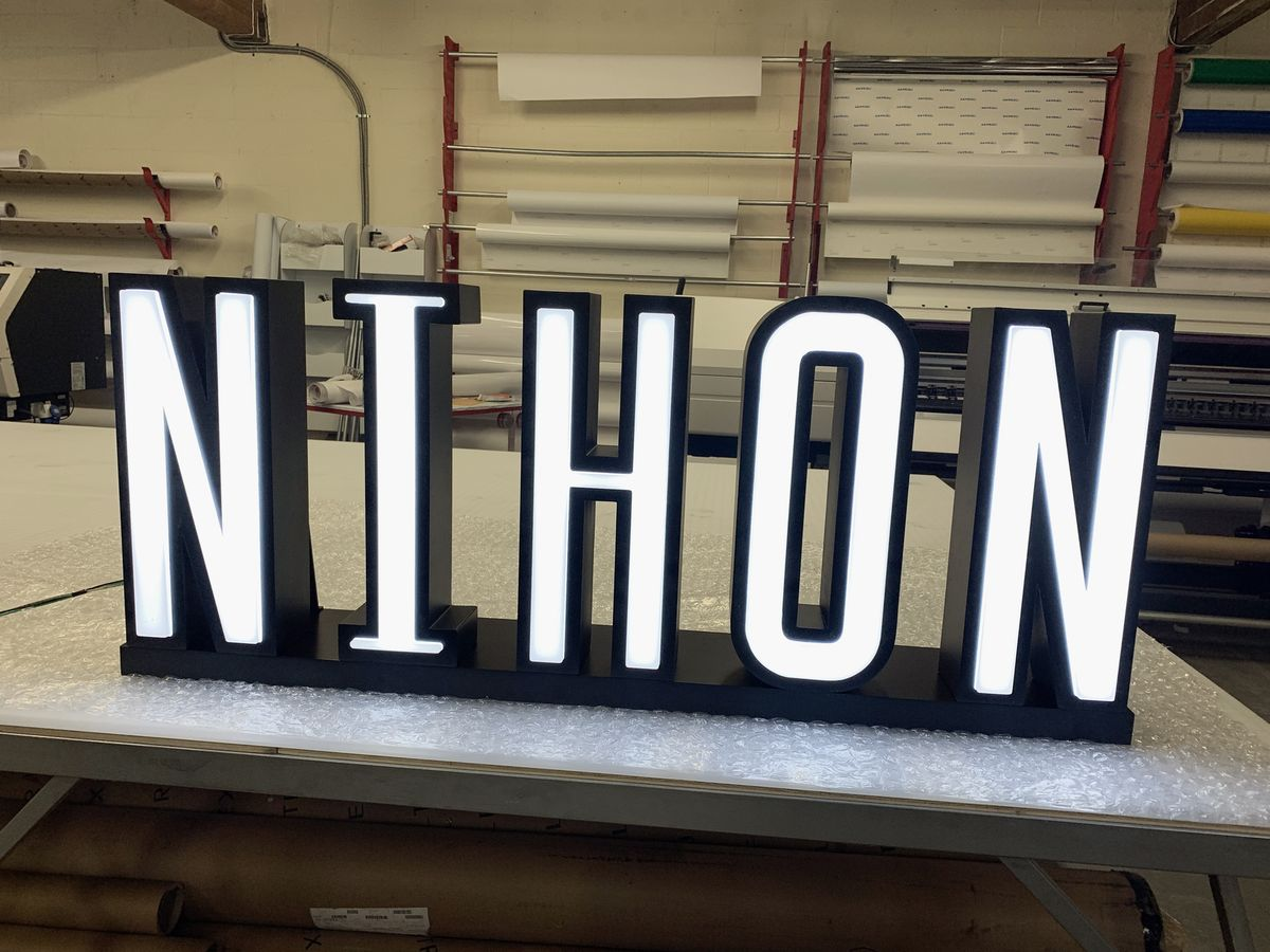 free standing lighted letters