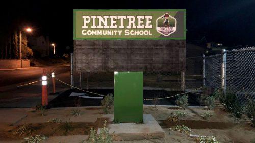 free standing school sign