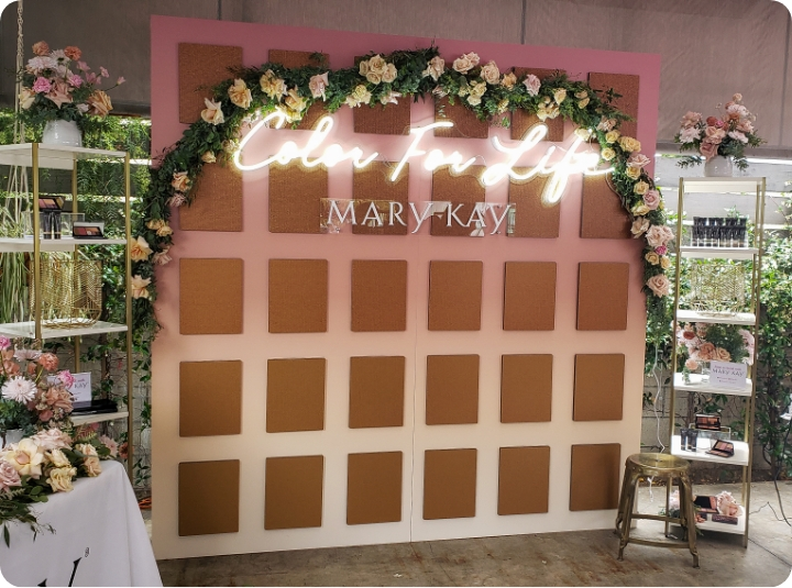 mary kay acrylic neon event stand