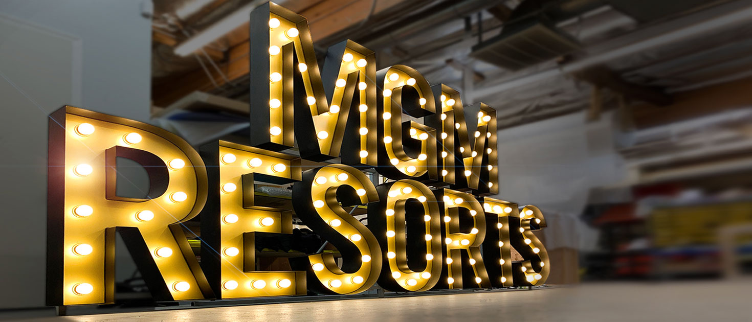 mgm resort marquee letters for event