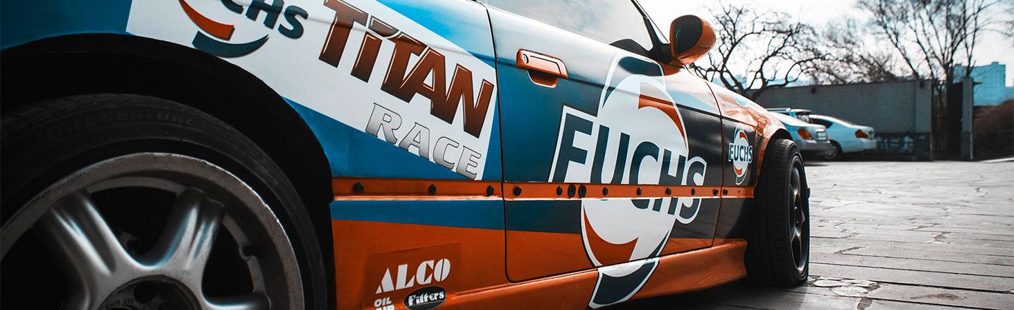 racing car full wrap