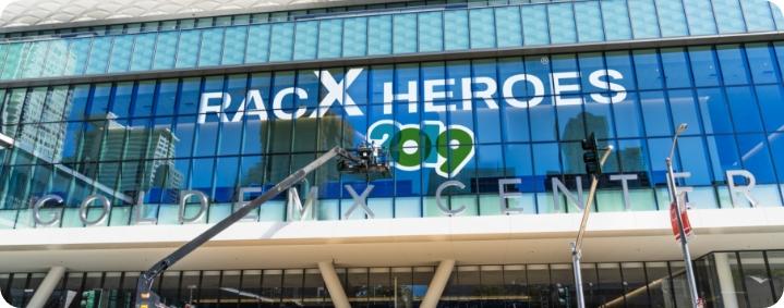 racx heroes 2019 event promotional window decals