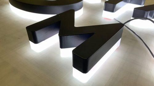 reverse illuminated letters