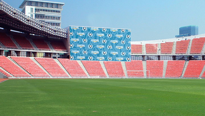 blue stadium backdrop in a large size covering the seats