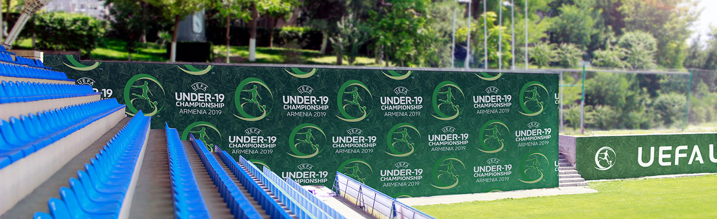 uefa championship media bachdrop stadium signs