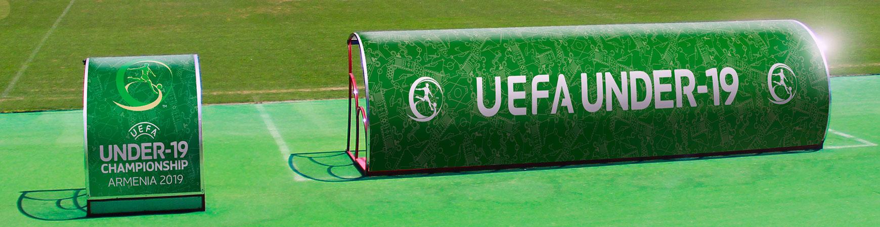 uefa championship stadium canopy signs