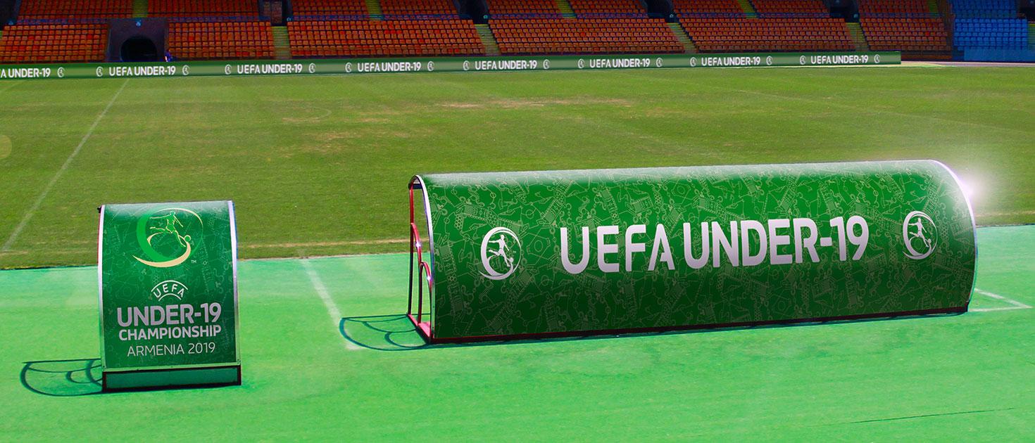 uefa football stadium canopy sign