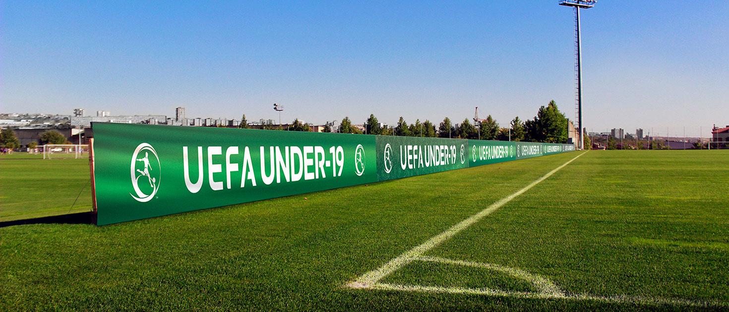 uefa under-19 football stadium banners