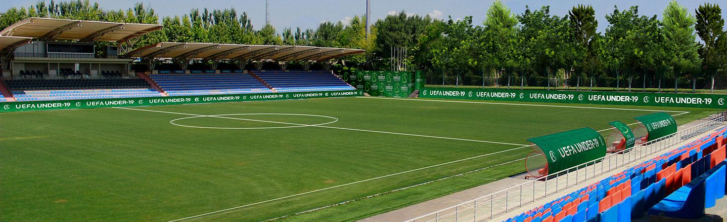 uefa under-19 football stadium signs