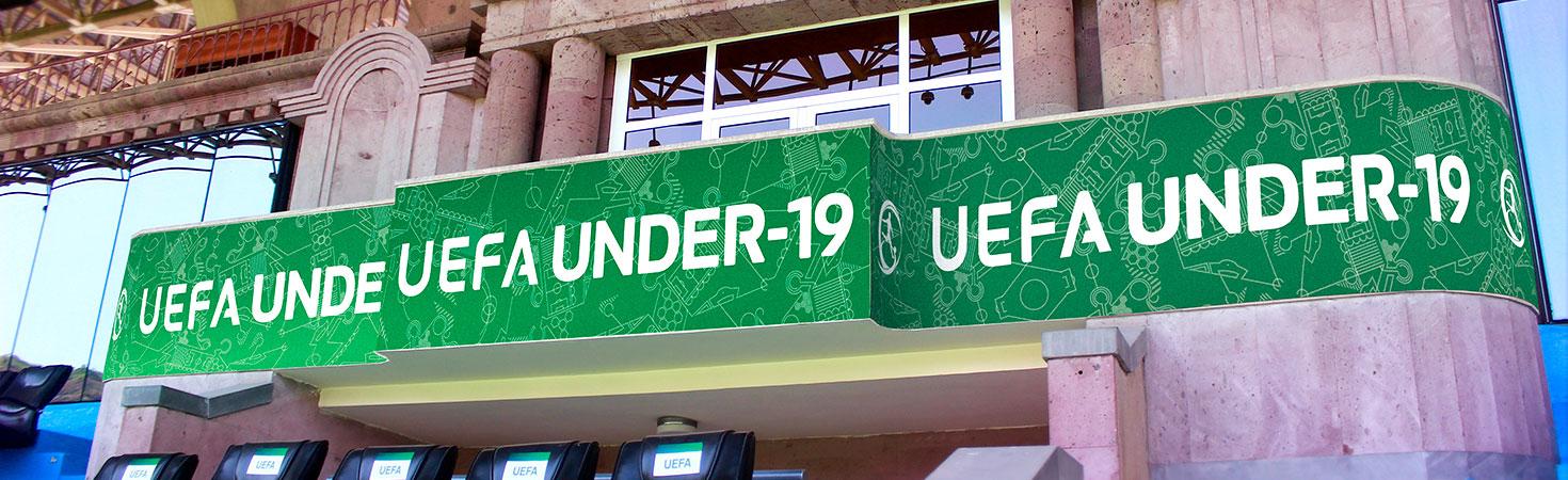 uefa under-19 stadium balcony sign