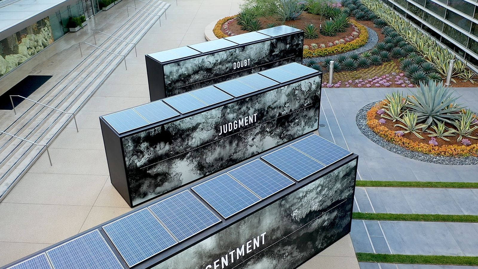 Annenberg solar powered lighted barricades