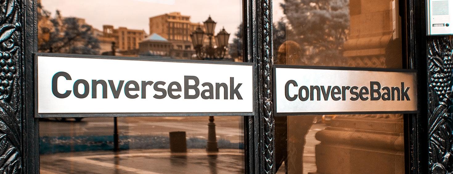ConversBank aluminum signs
