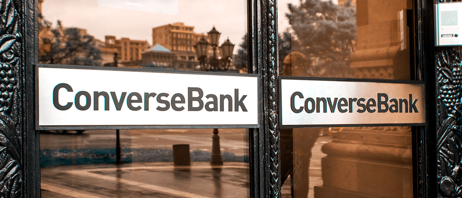 ConverseBank custom made aluminum sign