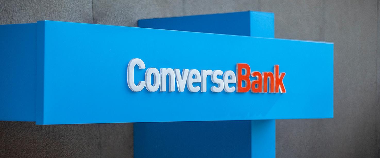 ConverseBank dimensional letters