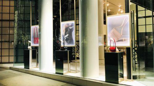 Giorgio Armani custom acrylic signs